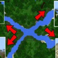Сид на несколько пересекающихся между собой рек для MCPE 1.2