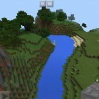 Сид на местность около извилистой реки для MCPE 1.2