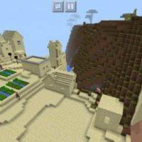 Сид на деревню с аномалиями для MCPE 1.2