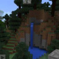 Сид на несколько биомов и деревьев около него для MCPE 1.2