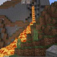 Сид на вытекающую лаву из горы для MCPE 1.2