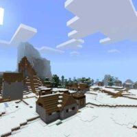 Сид на обновленную снежную деревню для MCPE 1.2