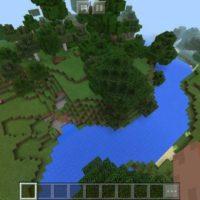Сид на массивные леса и красивые реки для MCPE 1.2