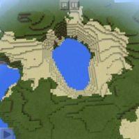 Сид на водоем по центру острова для Майнкрафт 1.3