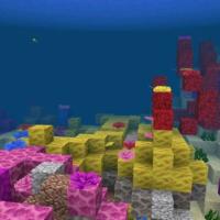 Сид на коралловый риф около спавна для Майнкрафт 1.3