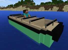 Мод на специальные лодки для MCPE 1.3
