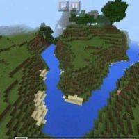 Сид на красивые реки и классный спавн для MCPE 1.3