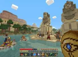 Egyptian mythology mash-up pack в Minecraft PE