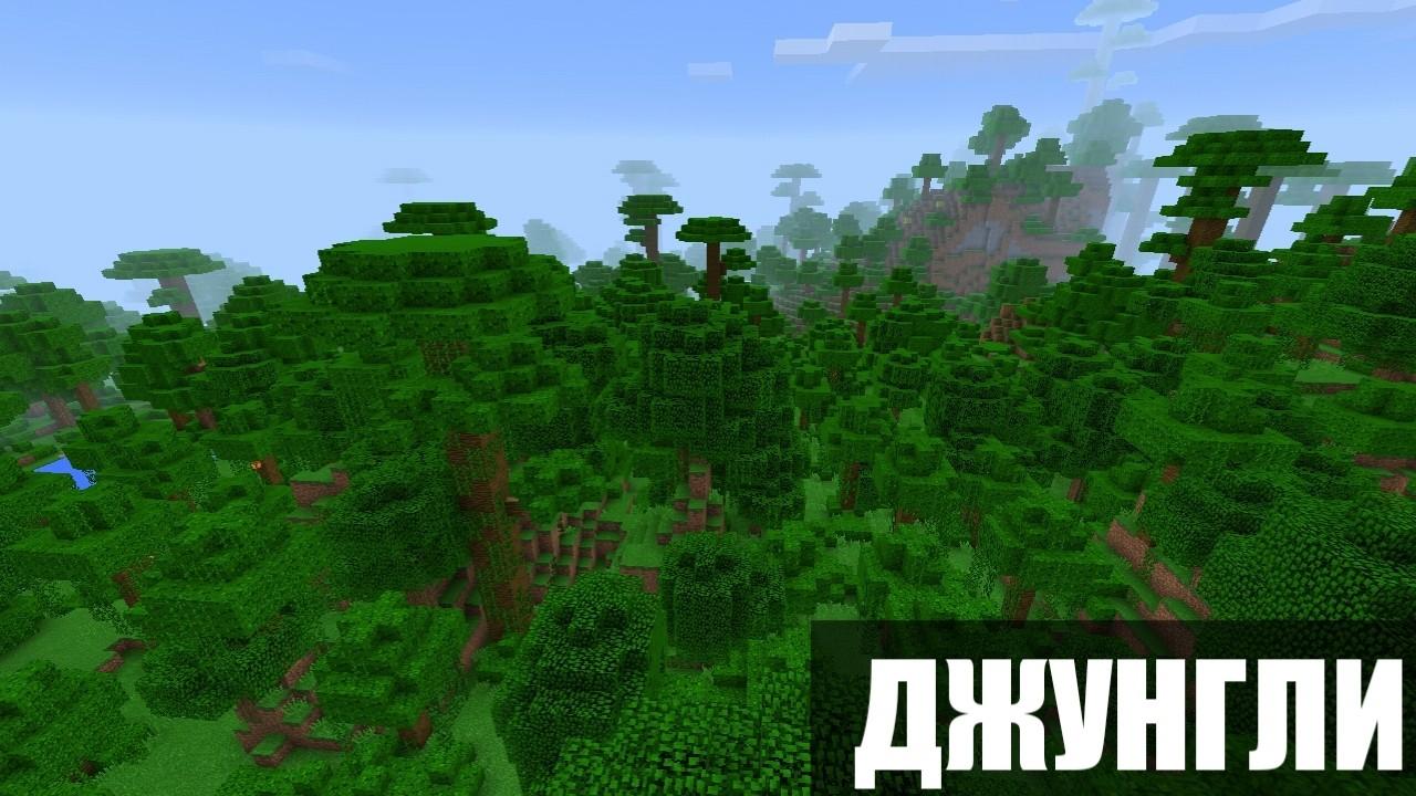 Сид на джунгли Центр на Майнкрафт ПЕ