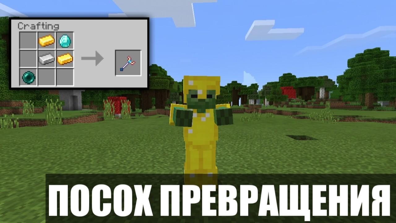Мод на превращения Посох превращения на Minecraft PE