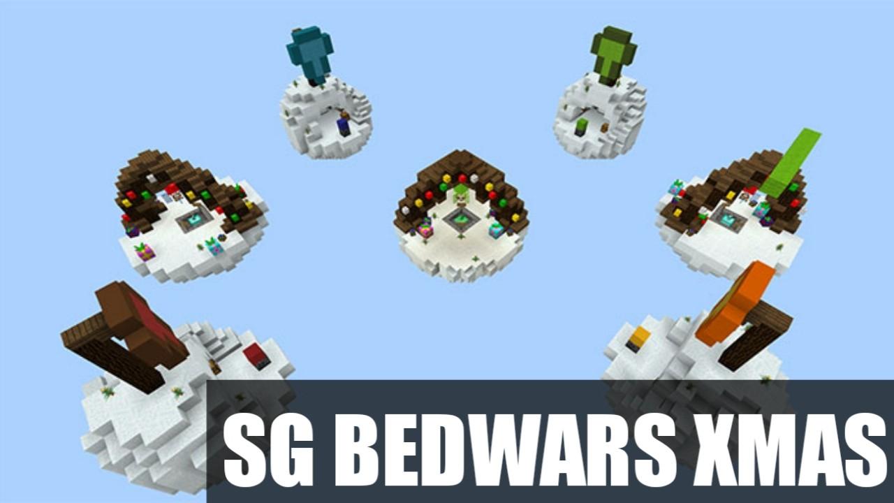 Карта на Бед Варс SG BedWars XMAS для Майнкрафт ПЕ