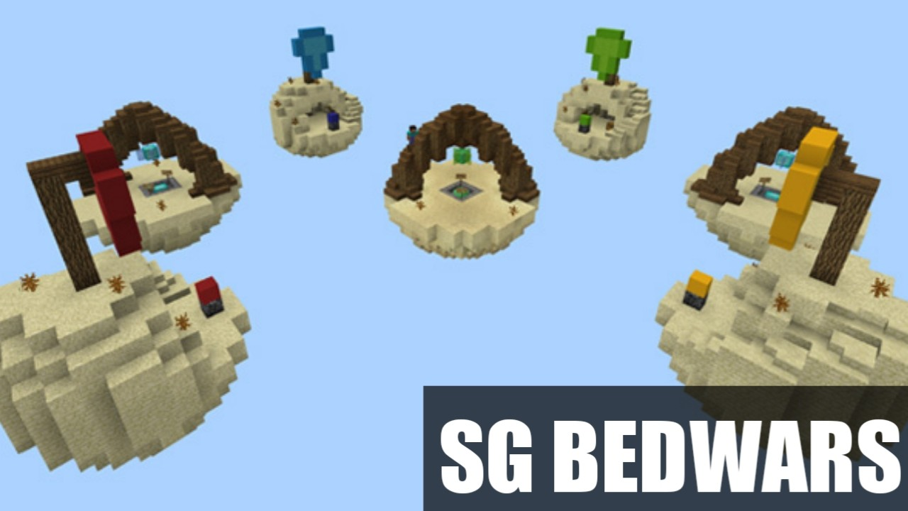 Карта на Бед Варс SG BedWars для Майнкрафт ПЕ