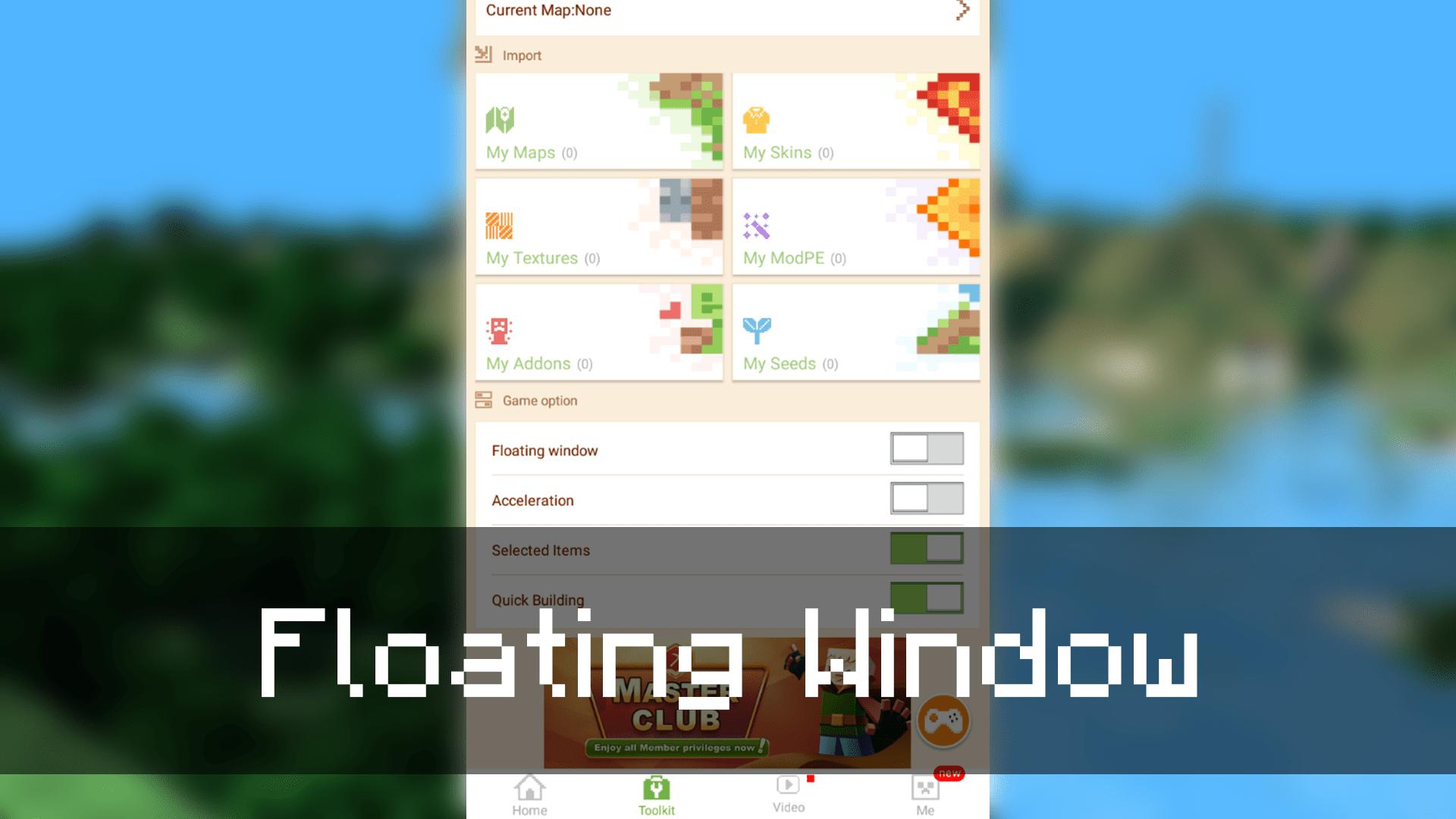 Floating Window в MCPE Master