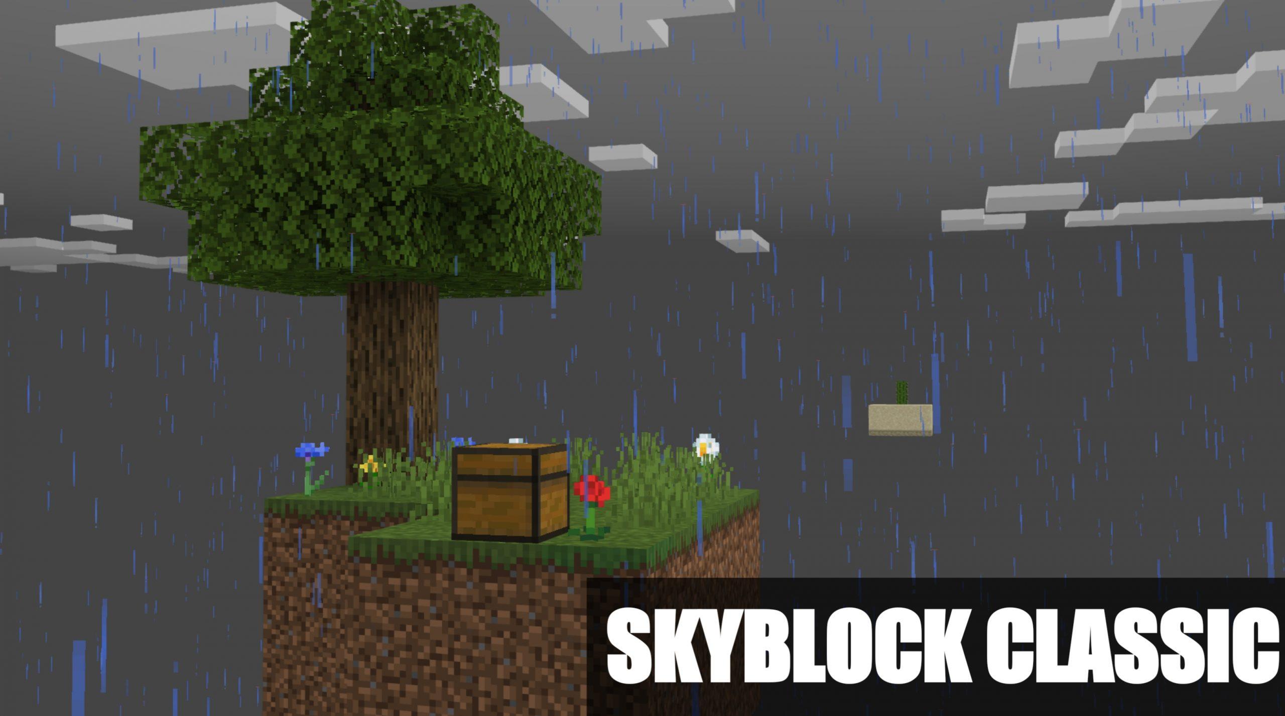 Классическая карта скайблок для Майнкрафта