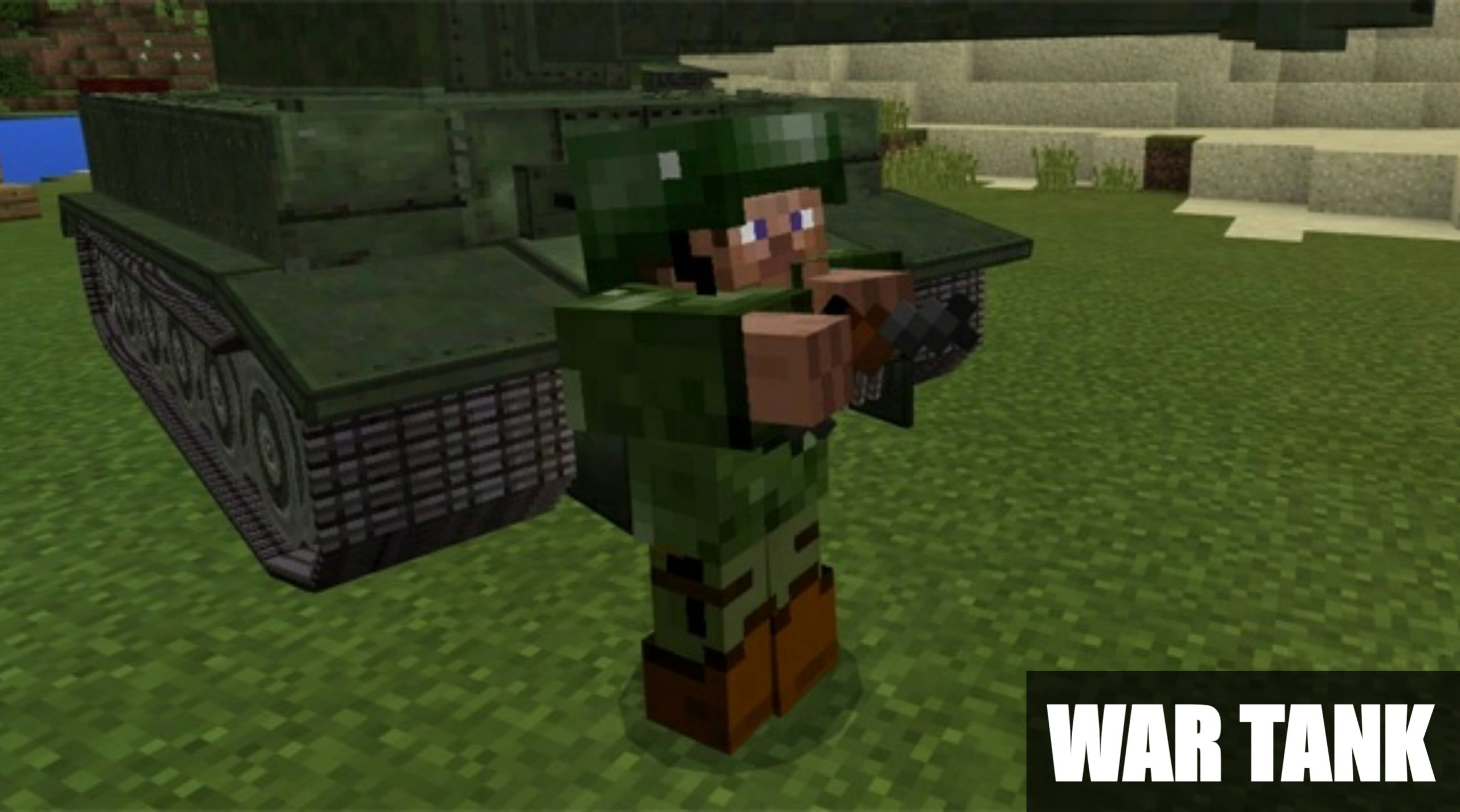 Установить мод на War Tank для Майнкрафт ПЕ