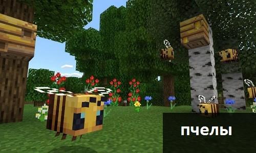 Пчелы в Майнкрафт ПЕ 1.14.1