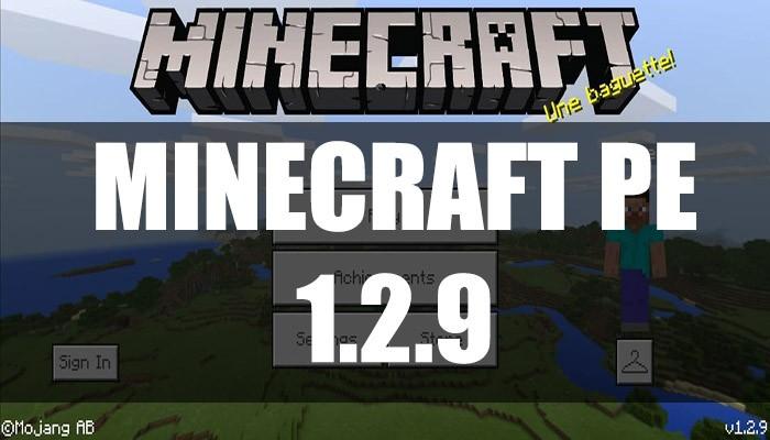 Скачать Minecraft PE 1.2.9