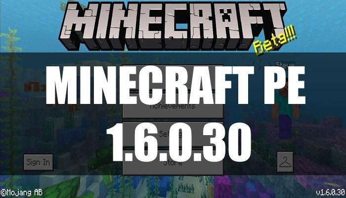 Скачать Minecraft PE 1.6.0.30