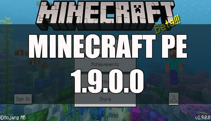 Скачать Minecraft PE 1.9.0.0