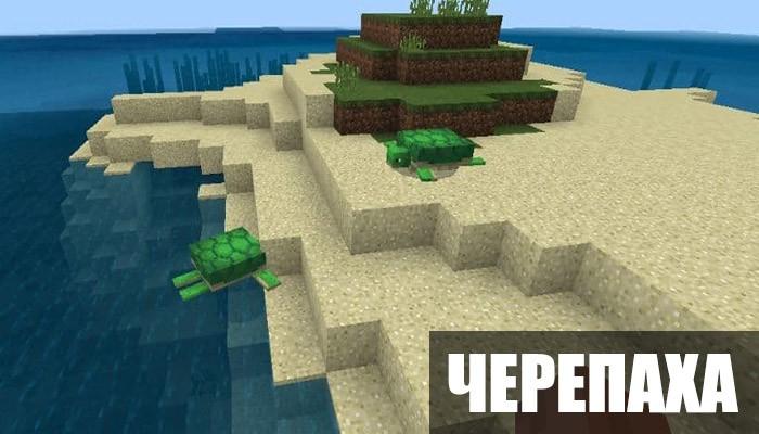Черепаха в Minecraft PE 1.5.0.10