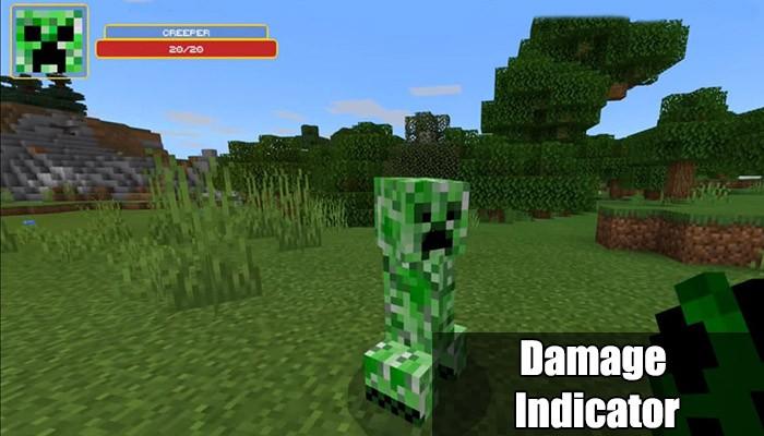 Damage indicator в Minecraft PE