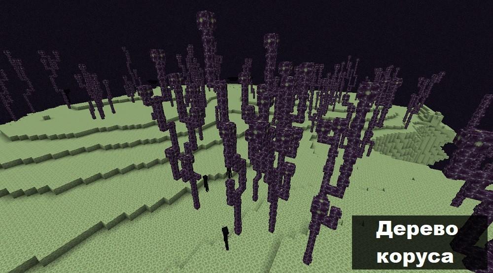 Дерево коруса в Майнкрафт ПЕ 0.17.0.2