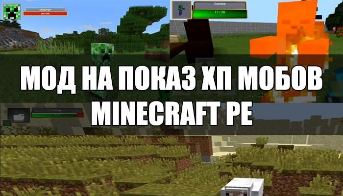 Скачать мод на показ хп мобов на Minecraft PE
