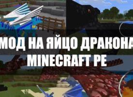 Скачать моды на яйцо дракона для Minecraft PE Бесплатно