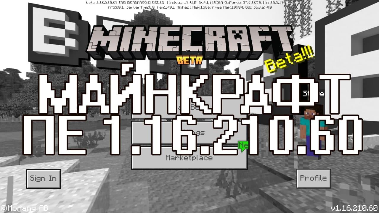 Скачать Майнкрафт 1.16.210.60