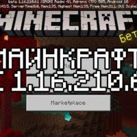 Скачать Майнкрафт 1.16.210.61 Бесплатно