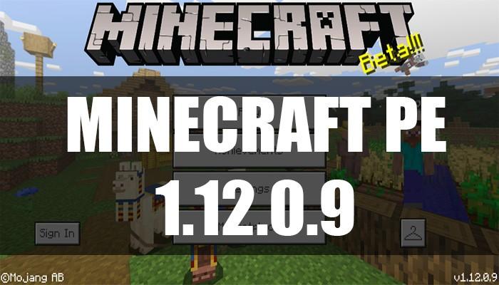 Скачать Minecraft PE 1.12.0.9