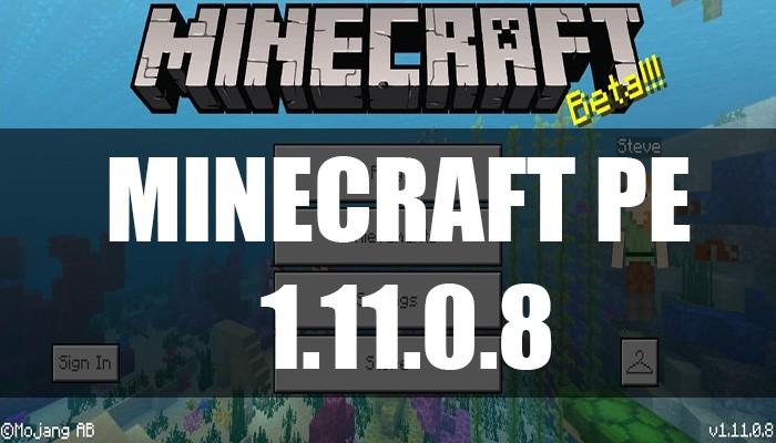 Скачать Minecraft PE 1.11.0.8