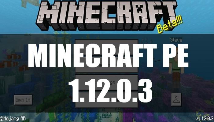 Скачать Minecraft PE 1.12.0.3