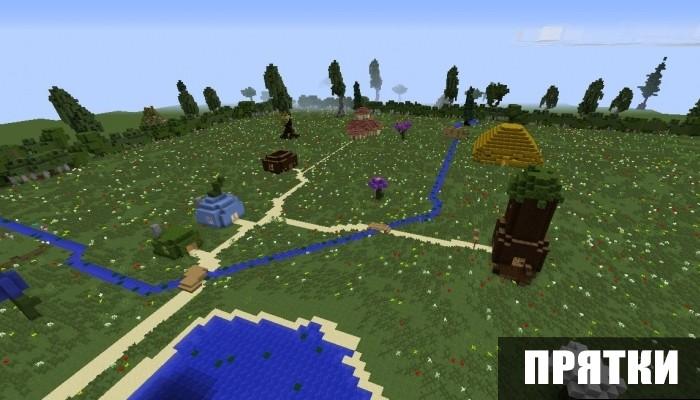 Прятки на карте на Лунтика для Майнкрафт ПЕ