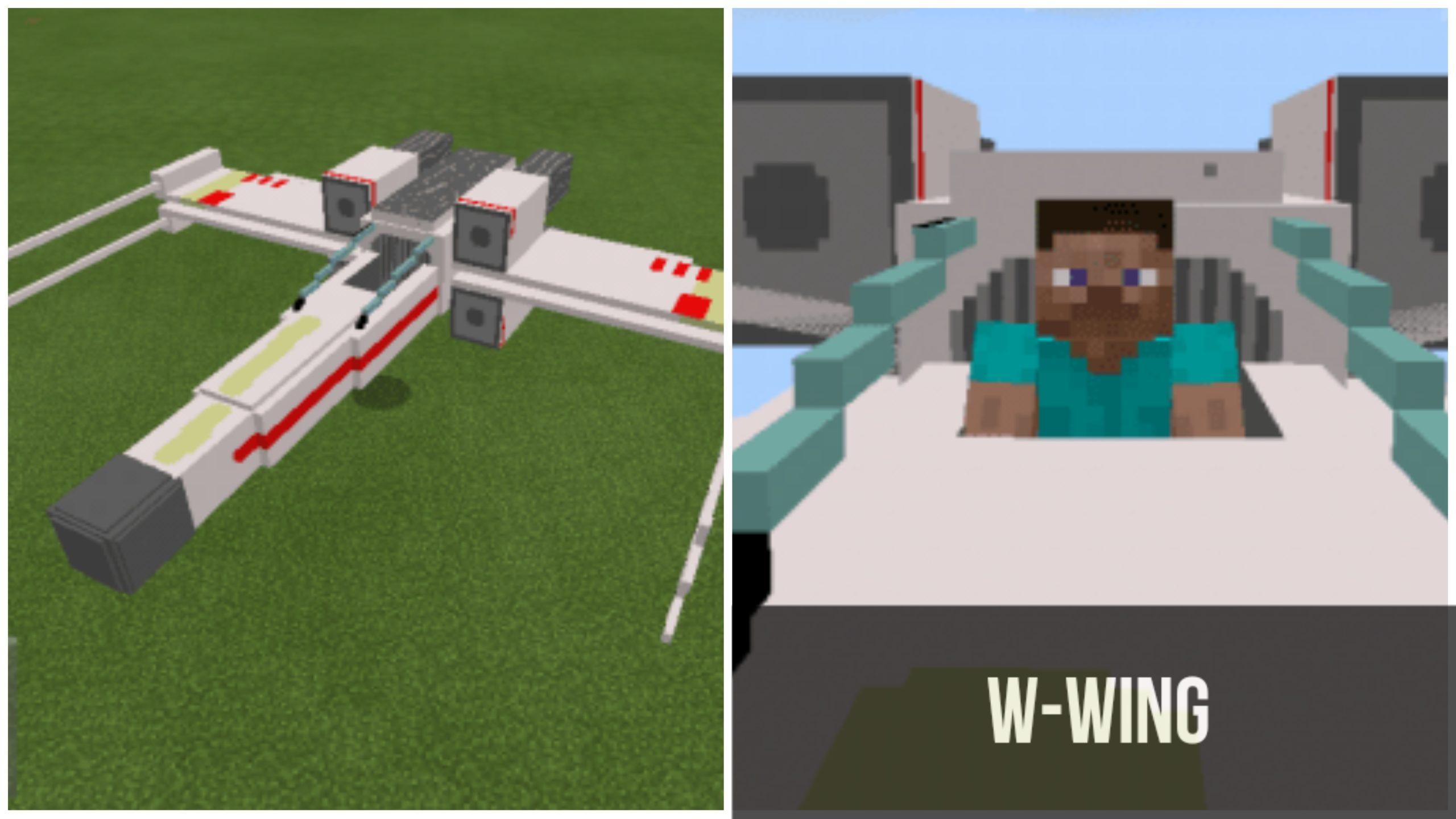 X-Wing в Minecraft PE