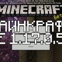 Скачать Майнкрафт 1.17.0.56 Бесплатно