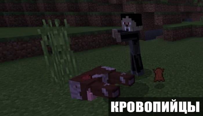 Мод на кровопийц для Minecraft PE