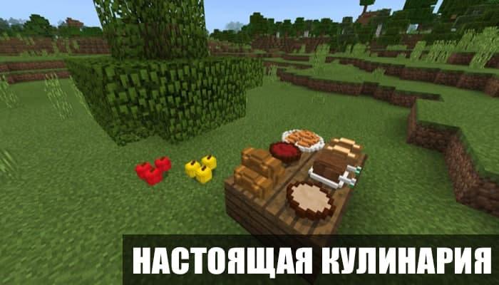 Мод на настоящую кулинарию для Minecraft PE