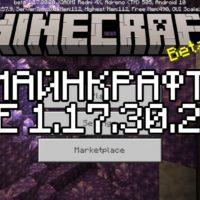 Скачать Майнкрафт 1.17.30.20