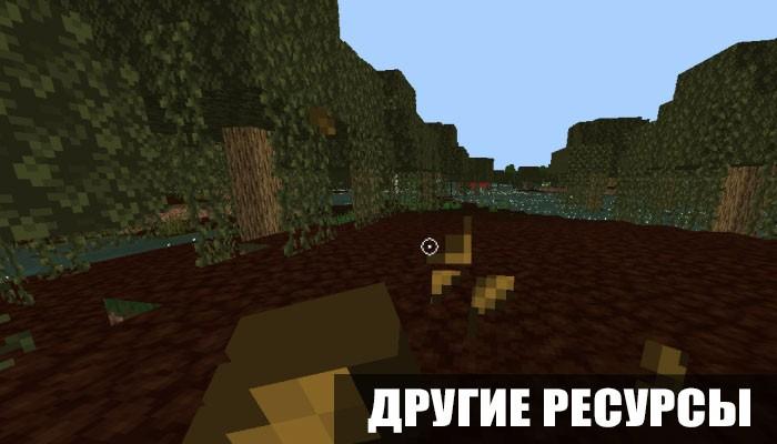 Другие ресурсы в проклятых текстурах для Minecraft PE