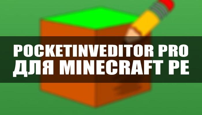PocketInvEditor PRO в Майнкрафт ПЕ