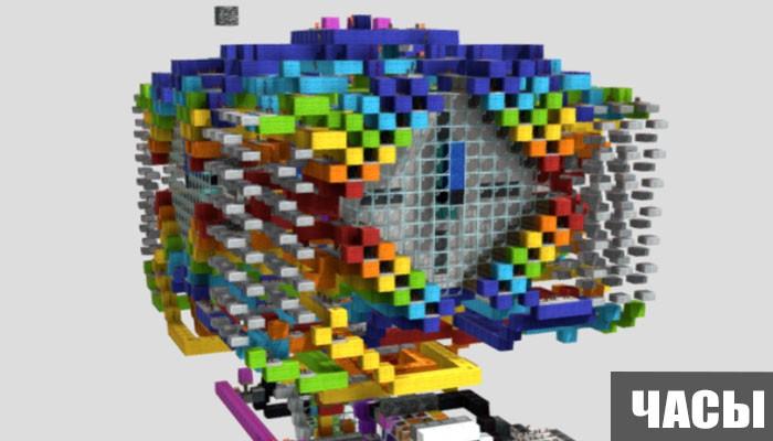 Механизм большие часы для Minecraft PE