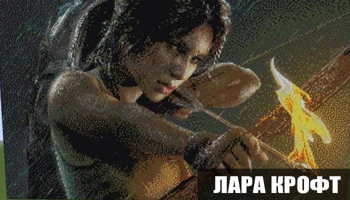 Пиксель арт Лара Крофт для Майнкрафт ПЕ